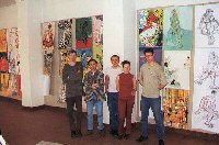 Vladimir Zuev with the students at the Art Faculty.